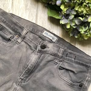 Madewell Gray Hi Riser Skinny Stretch Jeans
